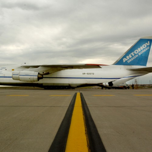 Russian Antonov 124 - Worlds largest operating aircraft, Denver, CO.