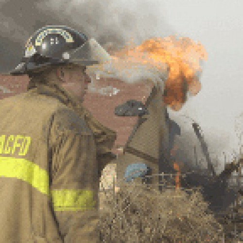 Commerce City Fire Department training on house fire